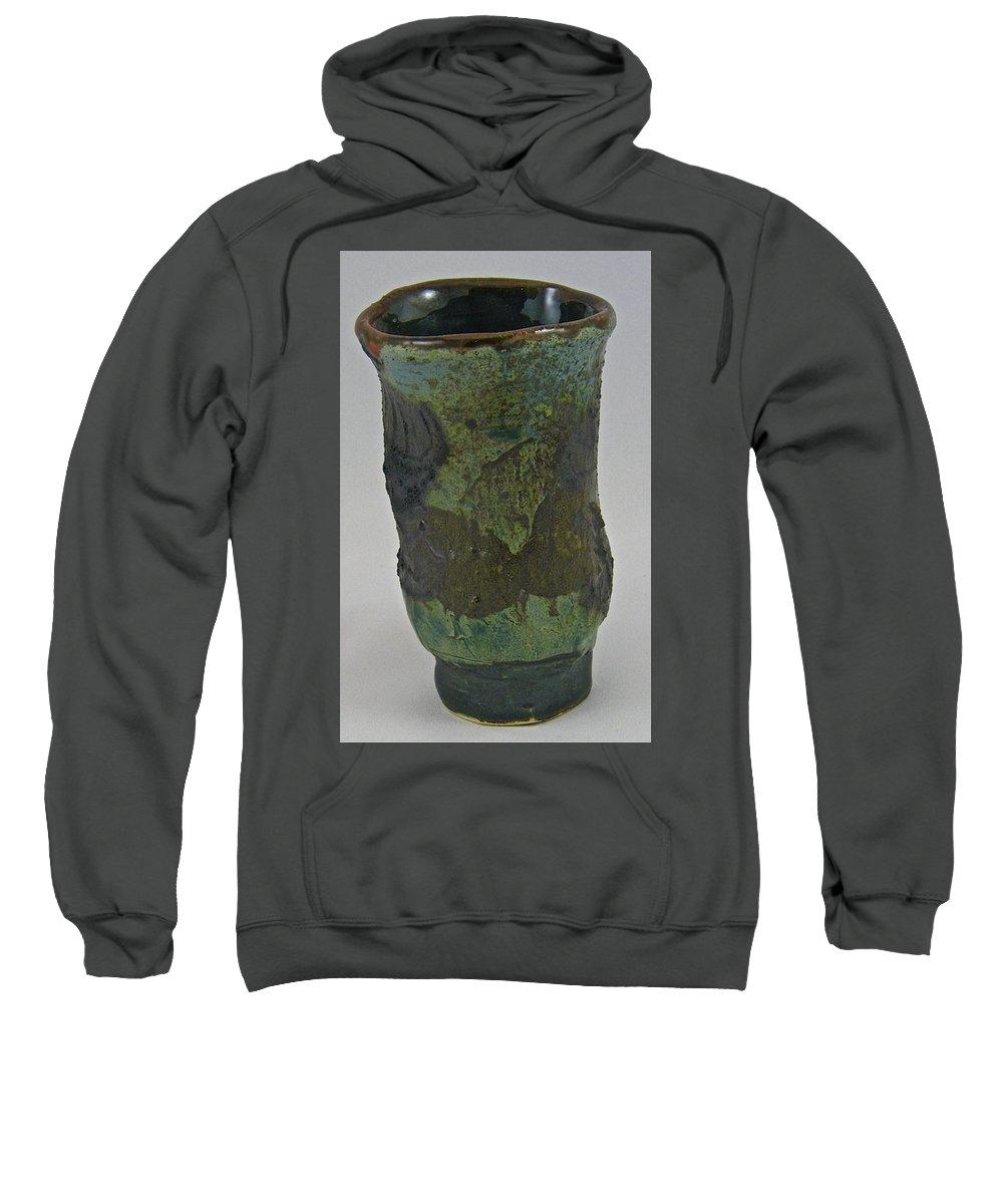 Tea Bowls Sweatshirt featuring the sculpture Tea Bowl #9 by Mario MJ Perron