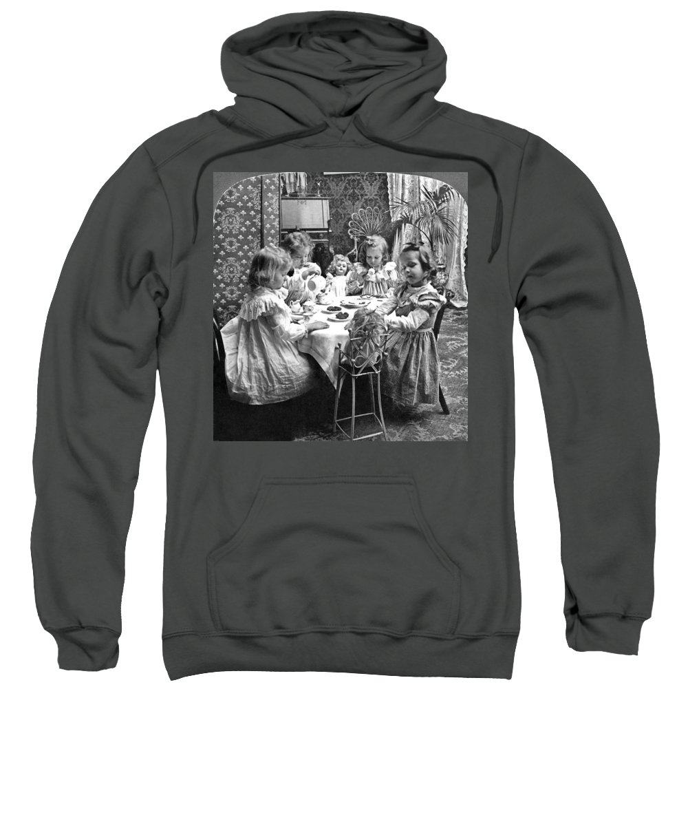 1902 Sweatshirt featuring the photograph Tea Party, C1902 by Granger