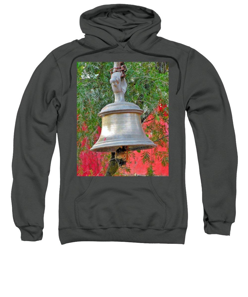 Bell Sweatshirt featuring the photograph Beautiful Temple Bell At Vishwanath - Himalayas India by Kim Bemis