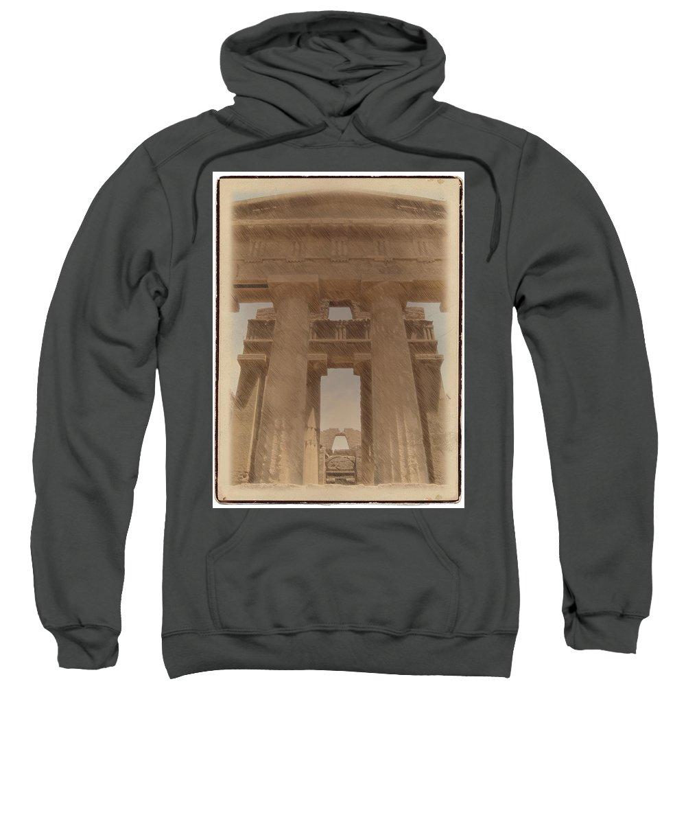 Greek Sweatshirt featuring the photograph Temple by Doug Matthews