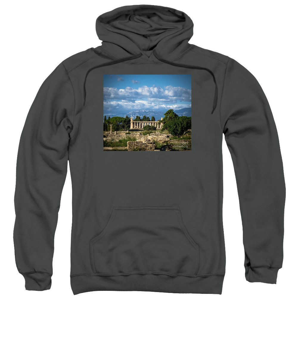 Paestum Sweatshirt featuring the photograph Temple Of Athena by Prints of Italy