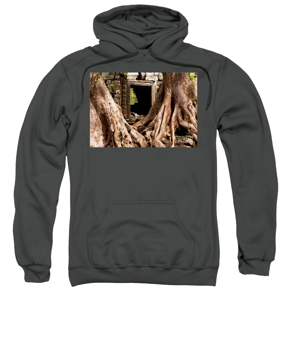 Ruined Sweatshirt featuring the photograph Temple Ruins 01 by Rick Piper Photography
