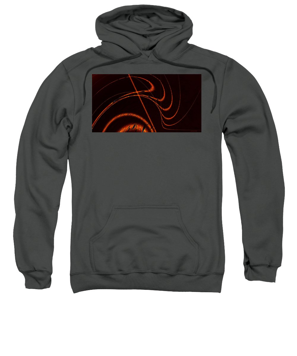 Abstract Sweatshirt featuring the digital art Tendrils Of Fire by Judi Suni Hall