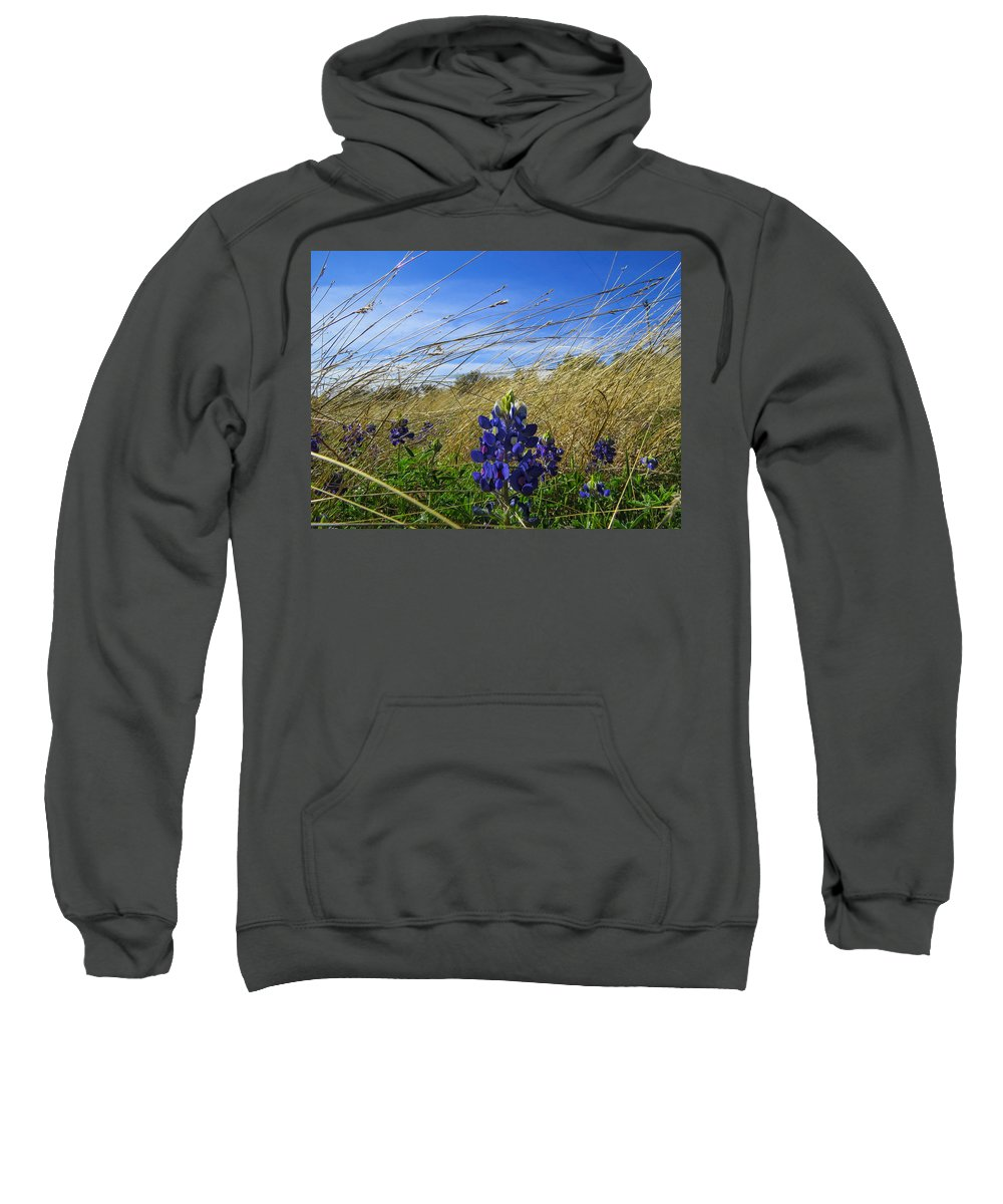 Georgetown Sweatshirt featuring the photograph Texas Bluebonnet Center Of Attention by JG Thompson