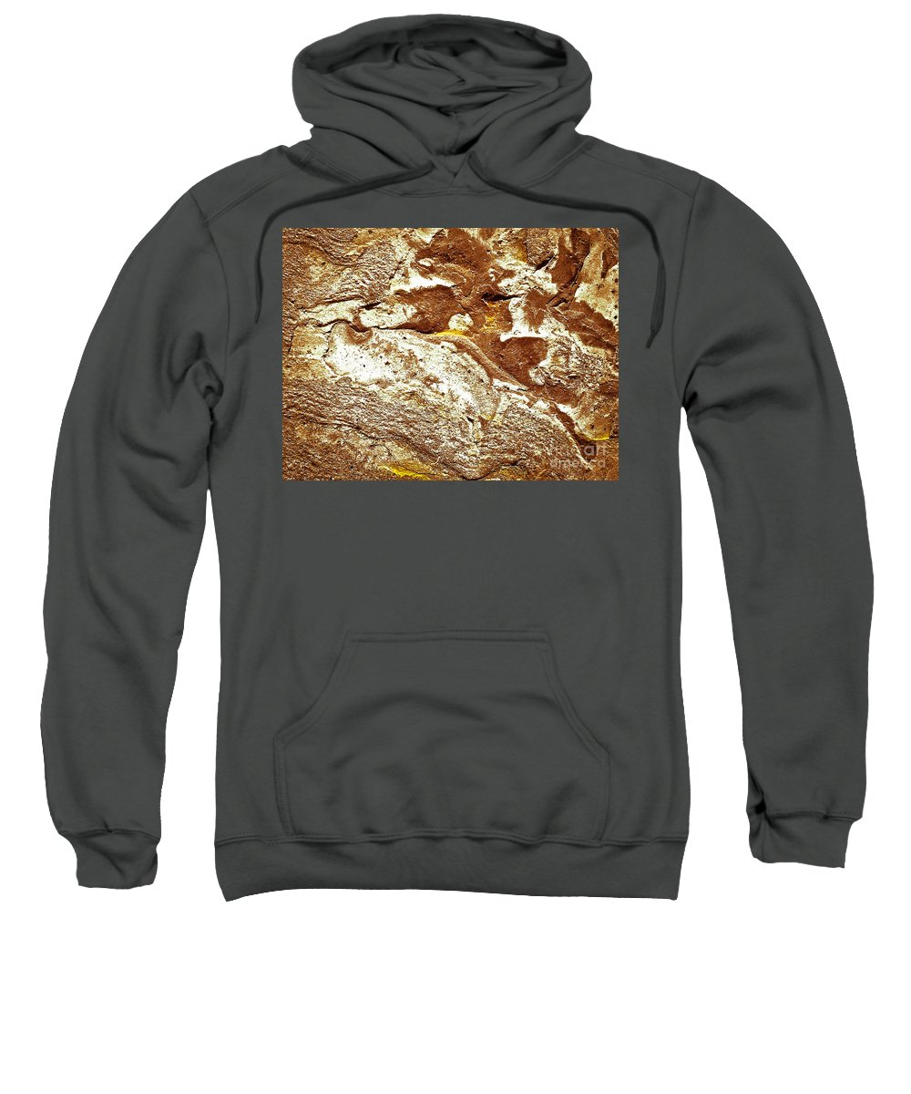 Abstract Sweatshirt featuring the photograph Texture No.7 Effect 10 by Fei A