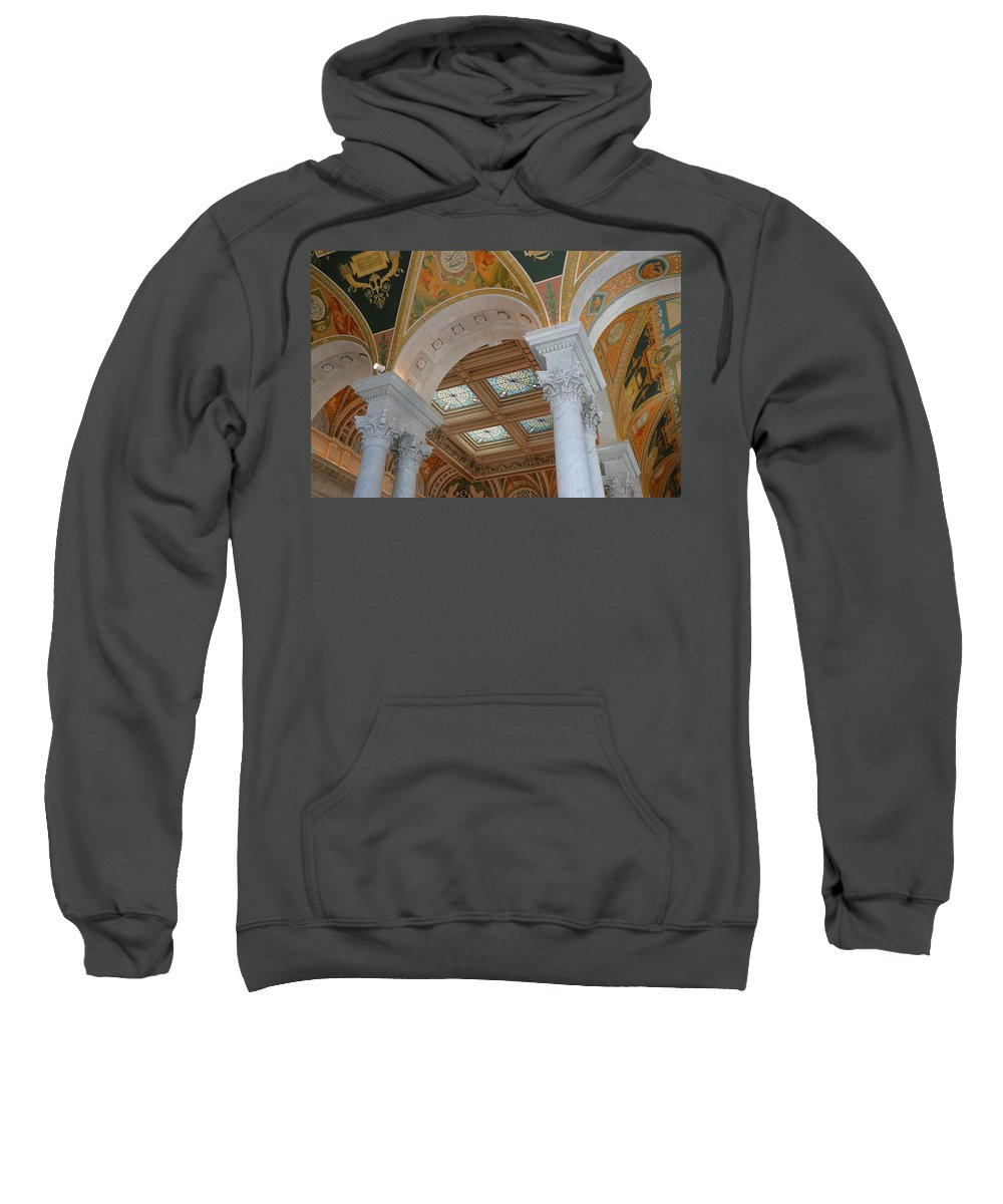 Interior Sweatshirt featuring the photograph Great Hall Of The Library Of Congress by Allen Beatty