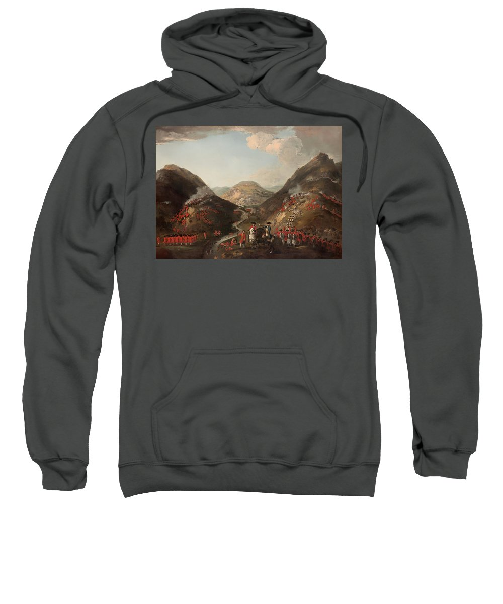 Painting Sweatshirt featuring the painting The Battle Of Glen Shiel 1719 by Mountain Dreams
