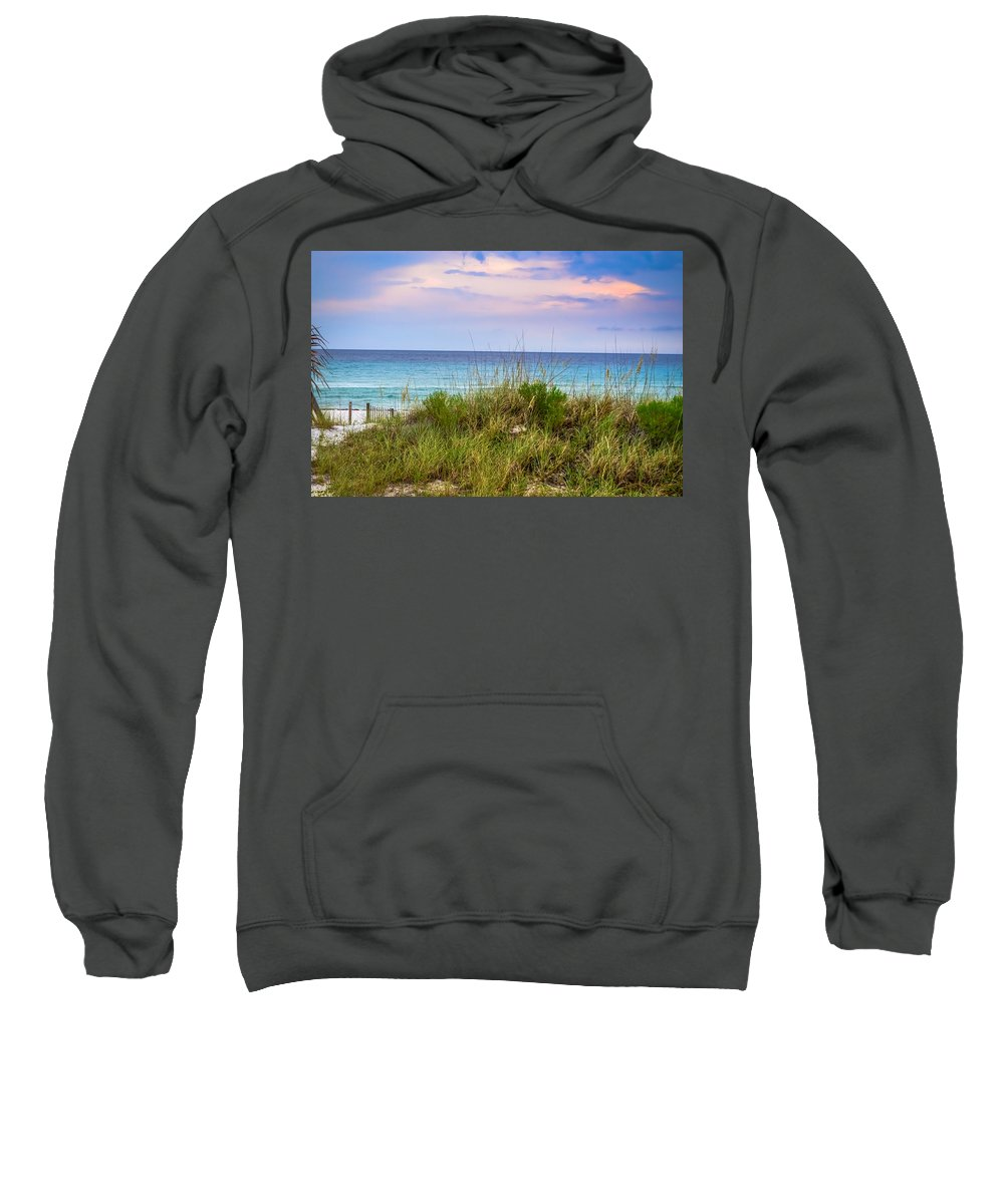 Beach Sweatshirt featuring the photograph the Beach is Calling Me by David Morefield