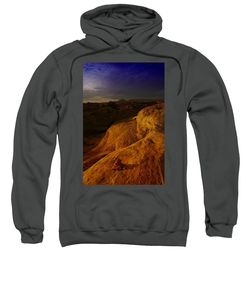 Utah Sweatshirt featuring the photograph The Beauty Of Canyonlands by Jeff Swan