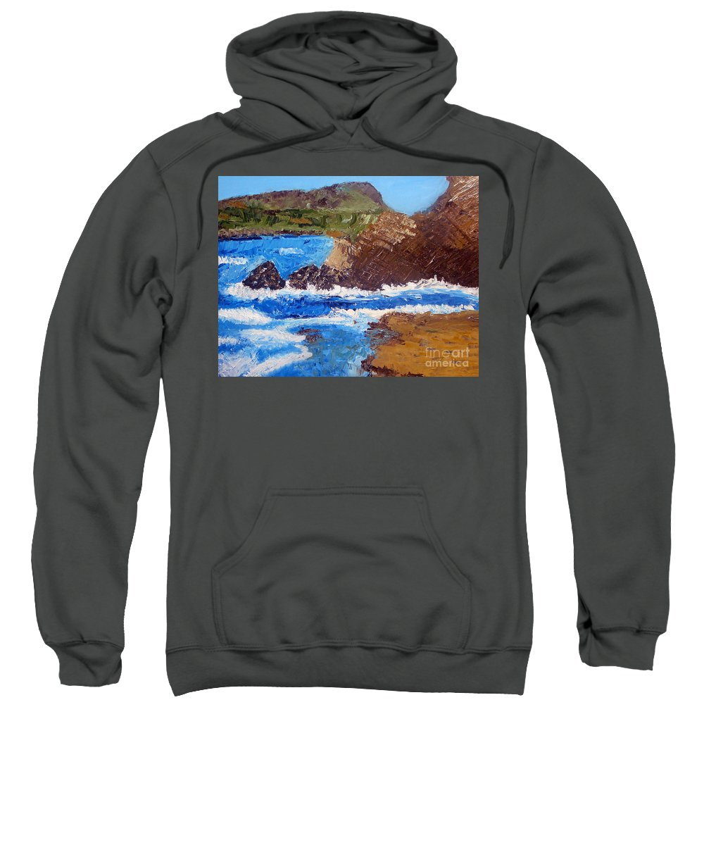 Landscape Painting Sweatshirt featuring the painting The Beauty Of Nature by Yael VanGruber