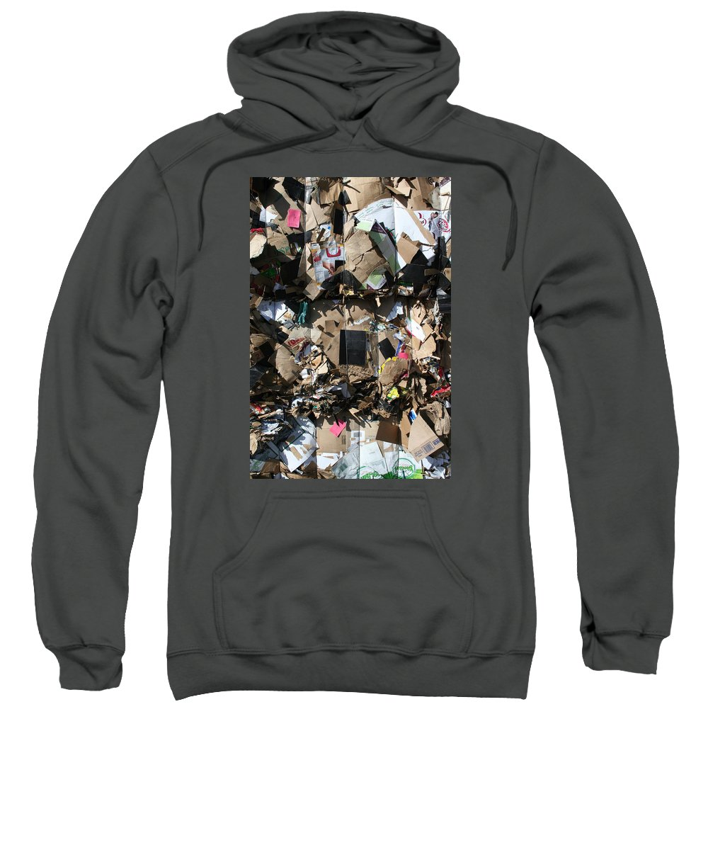 Trash Sweatshirt featuring the photograph The Beauty Of Recycling by Ric Bascobert