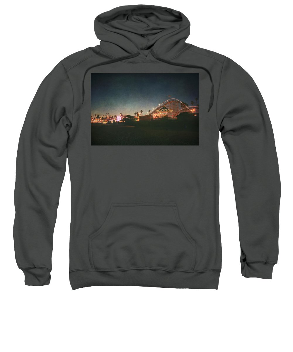 Santa Cruz Beach Boardwalk Sweatshirt featuring the photograph The Boardwalk by Laurie Search