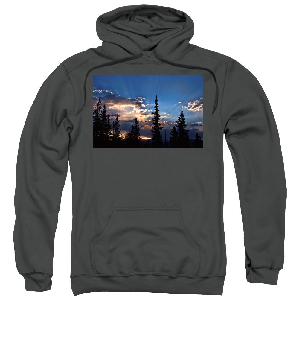 Sunsets Sweatshirt featuring the photograph The Calling by Jim Garrison