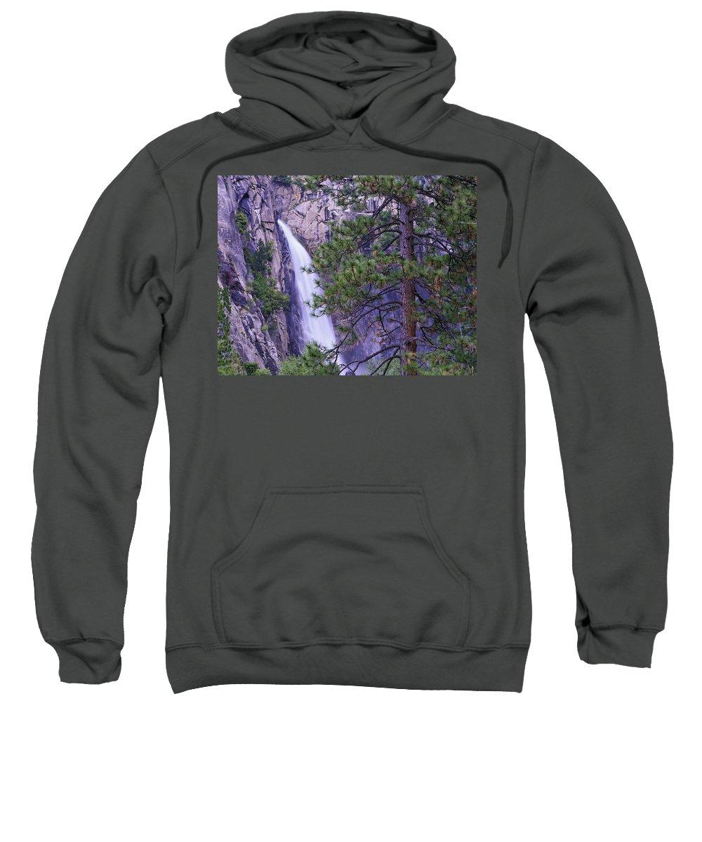 California Sweatshirt featuring the photograph The Cascades Yosemite Np by Tim Fitzharris
