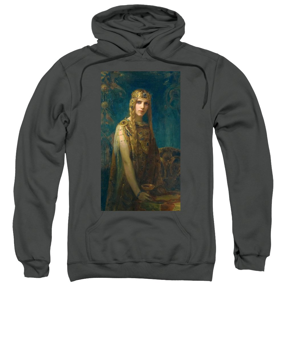 Gaston Bussiere Sweatshirt featuring the painting The Celtic Princess by Gaston Bussiere