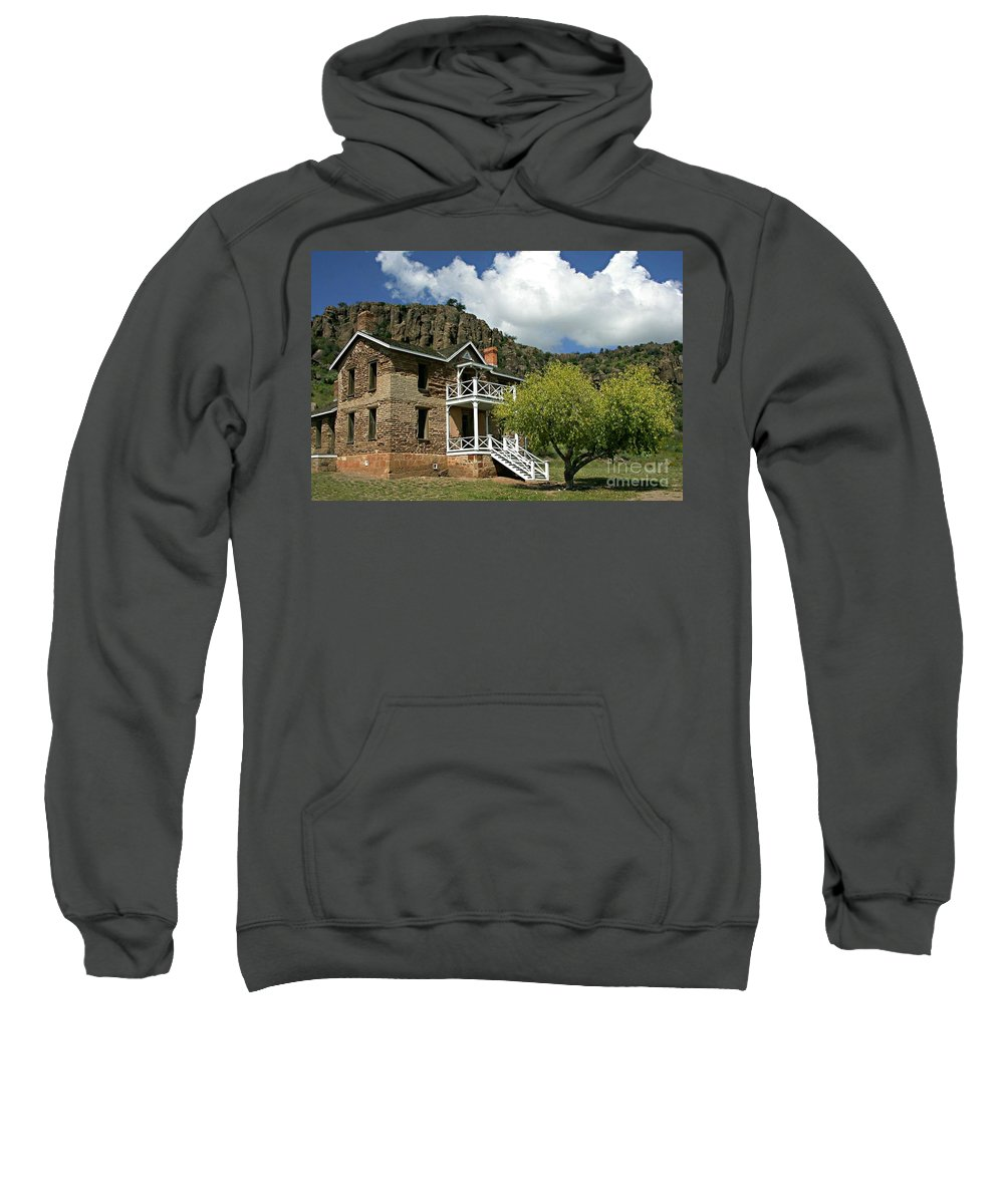 Don Sweatshirt featuring the painting The Commandants Quarters by Don Wright