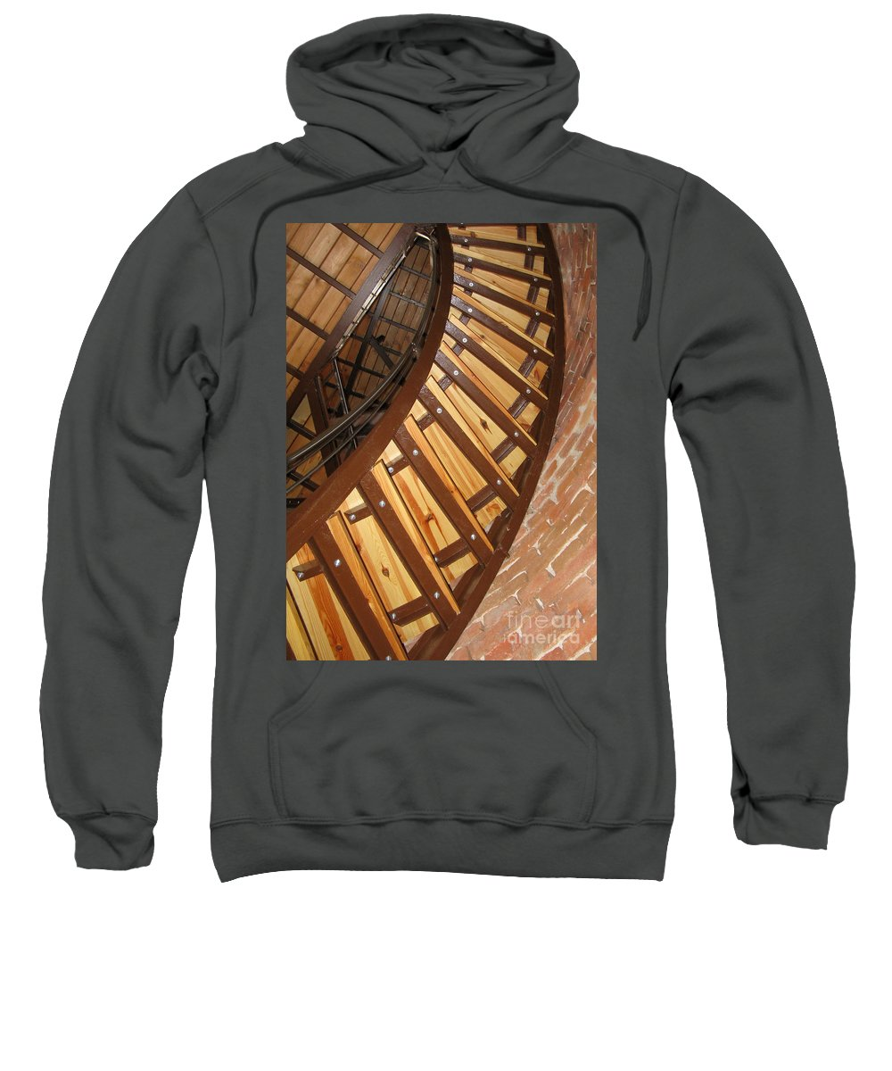Stairs Sweatshirt featuring the photograph The Downside Of Spiral Stairs by Ausra Huntington nee Paulauskaite