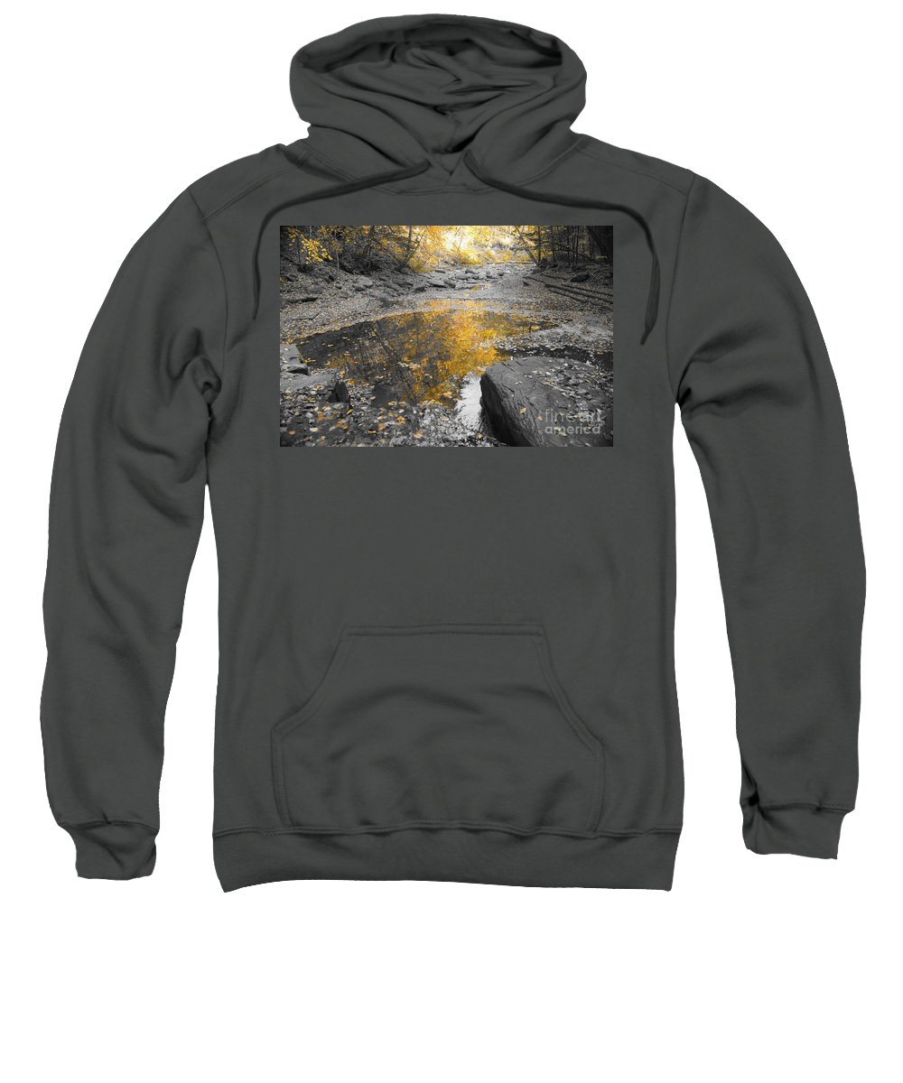 Black And White Sweatshirt featuring the photograph The Dry Creek Bed by Jeffery L Bowers