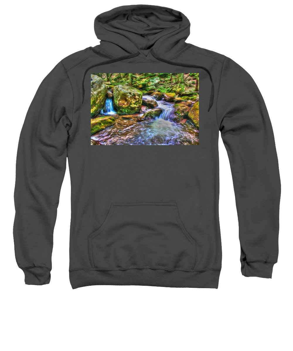 Day Sweatshirt featuring the photograph The Emerald Forest 2 by Dan Stone