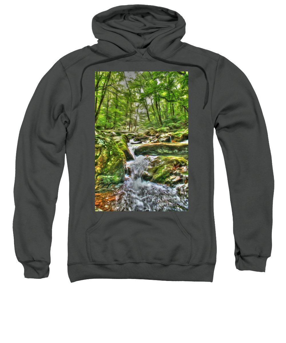 Day Sweatshirt featuring the photograph The Emerald Forest 3 by Dan Stone