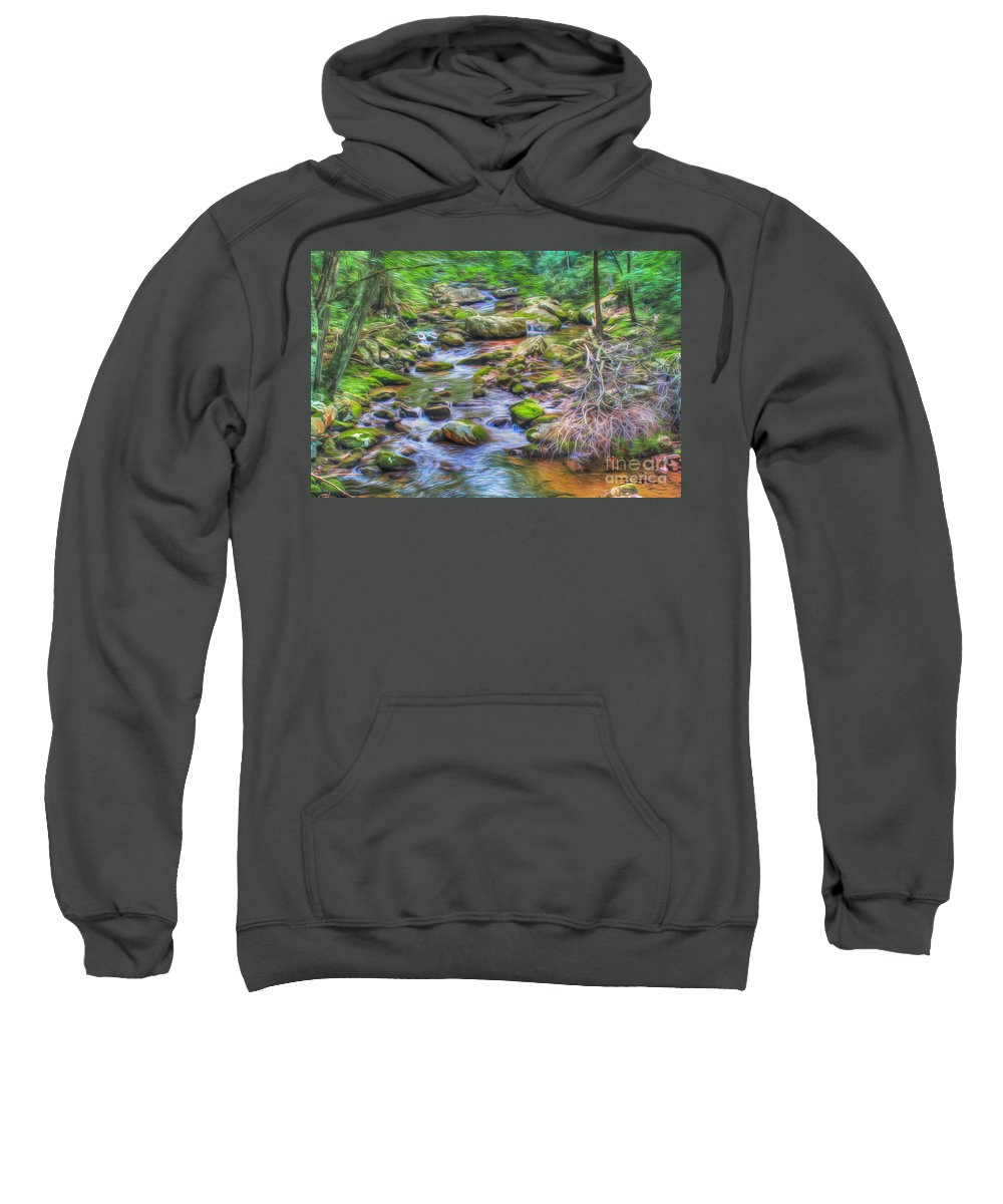 Day Sweatshirt featuring the photograph The Emerald Forest 6 by Dan Stone