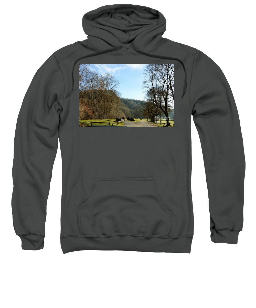 Landscape Sweatshirt featuring the photograph The Emme's Promenade Path by Felicia Tica