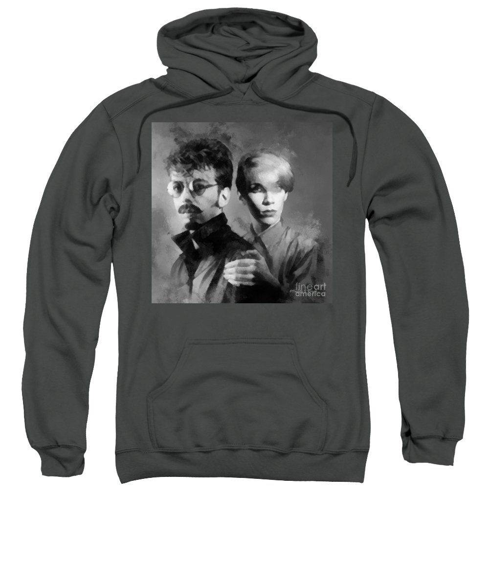 Eurythmics Sweatshirt featuring the photograph The Eurythmics by Paulette B Wright