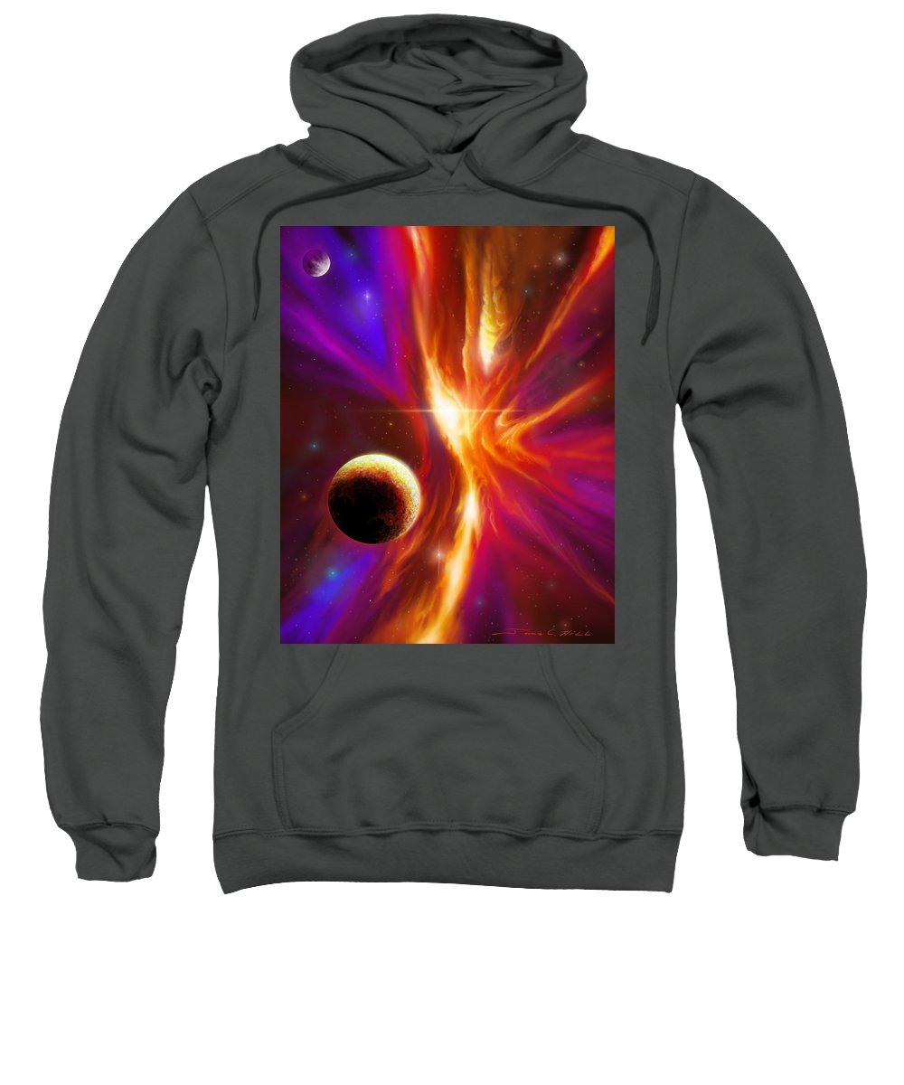 Sunrise Sweatshirt featuring the painting The Eye Of God by James Christopher Hill