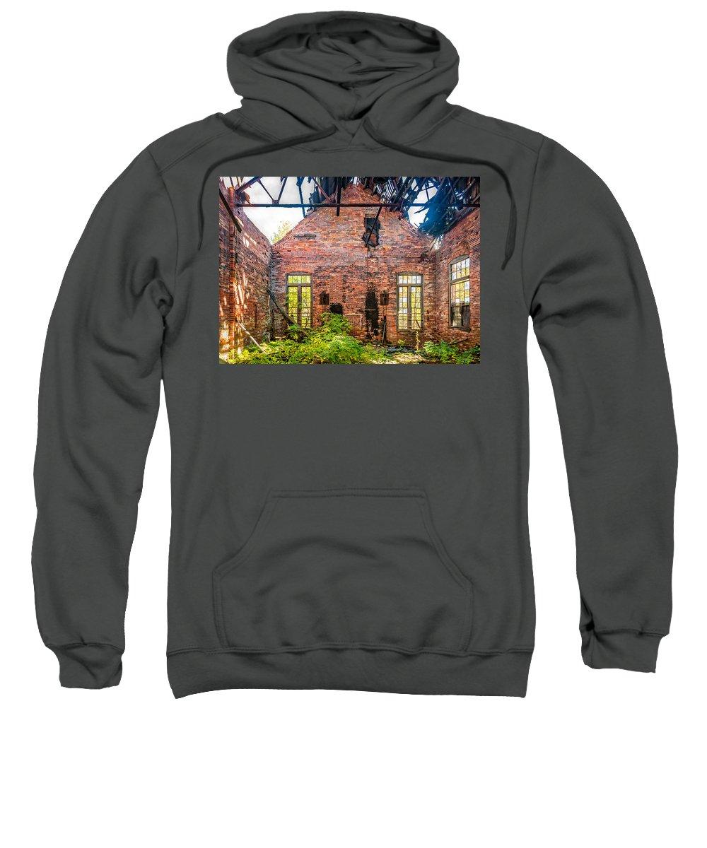 Autumn Sweatshirt featuring the photograph The Factory Interior by Steve Harrington
