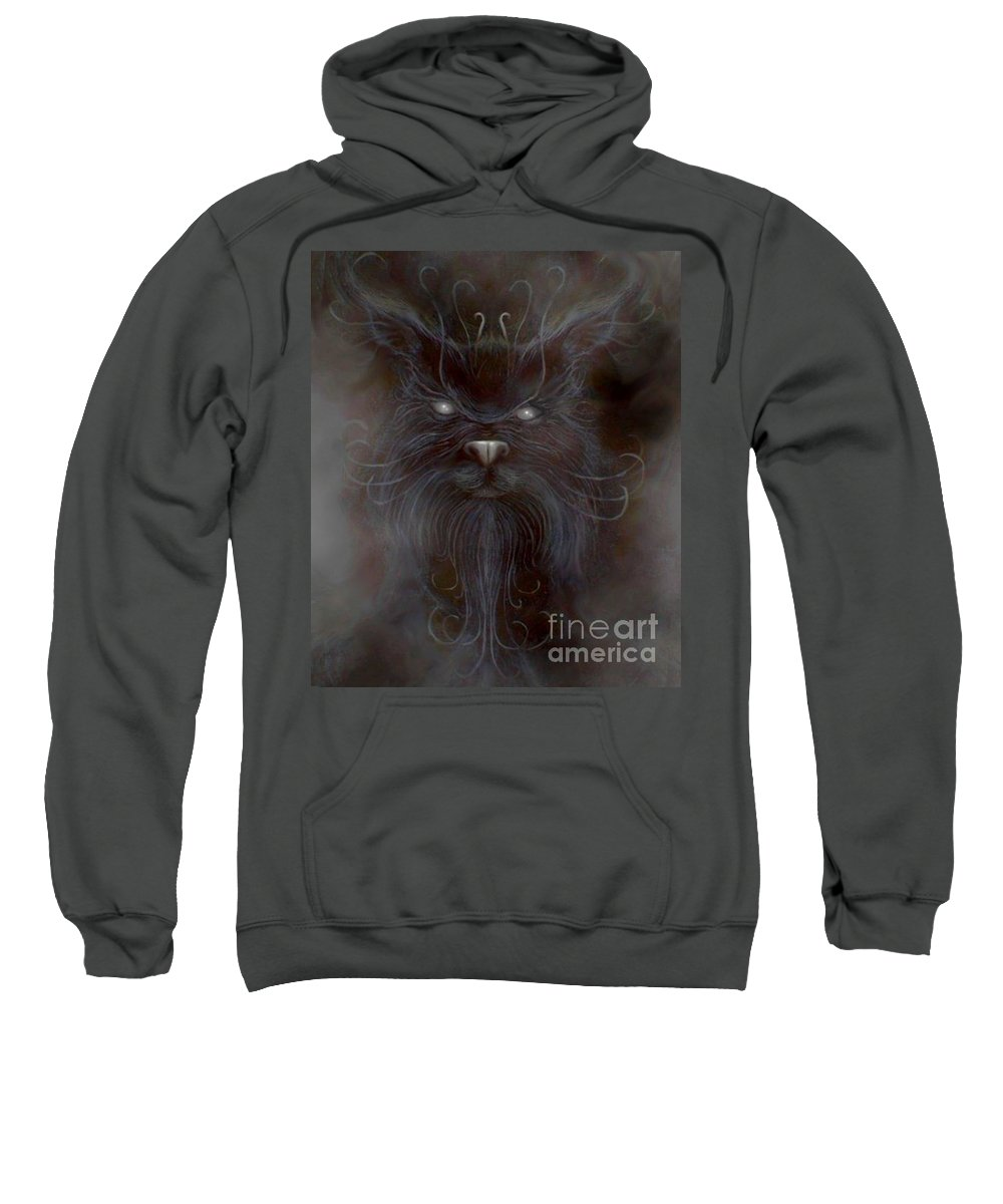 Sweatshirt featuring the painting The First Spirit by Couture Yan-D