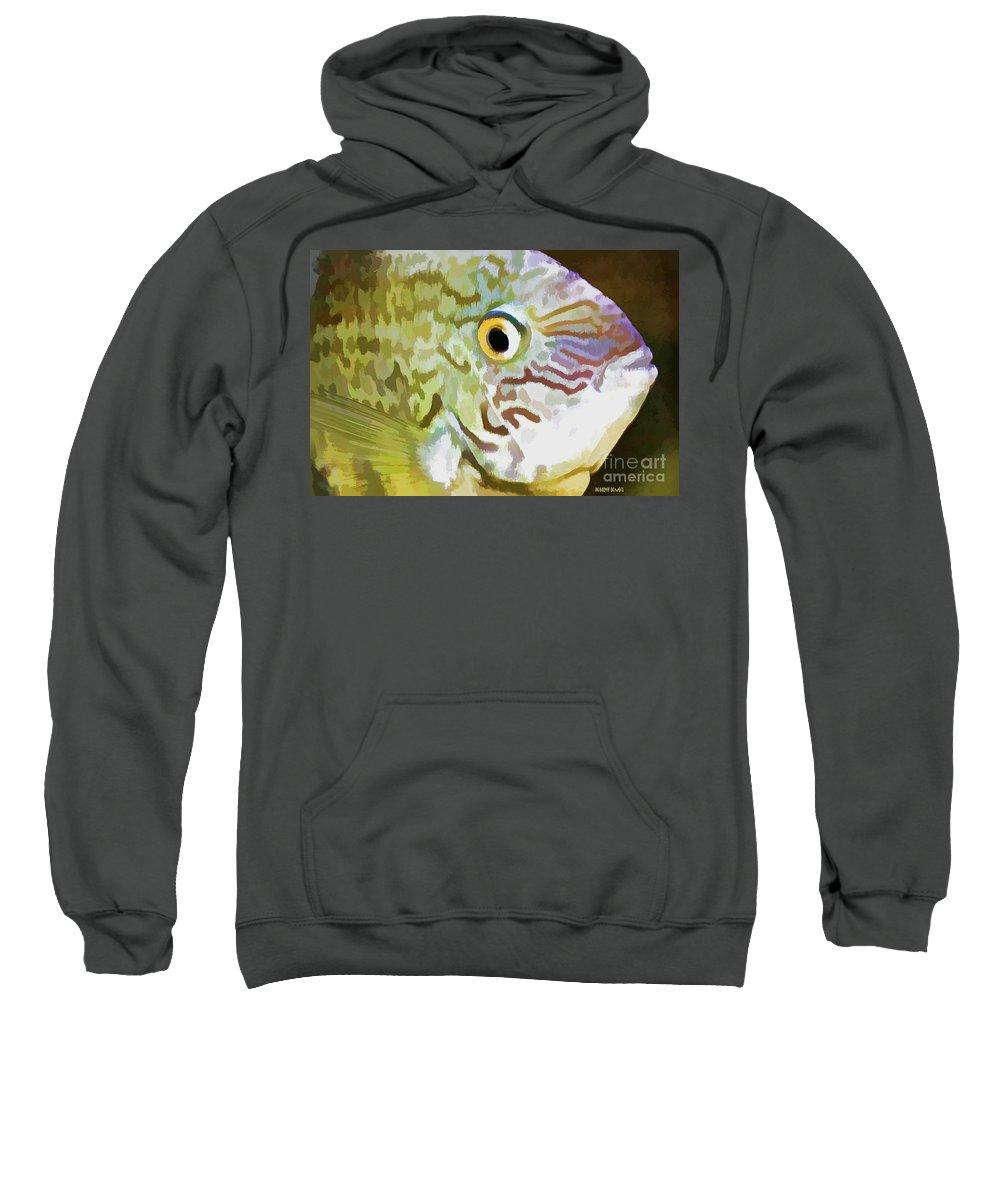 Fish Sweatshirt featuring the photograph The Fish by Deborah Benoit