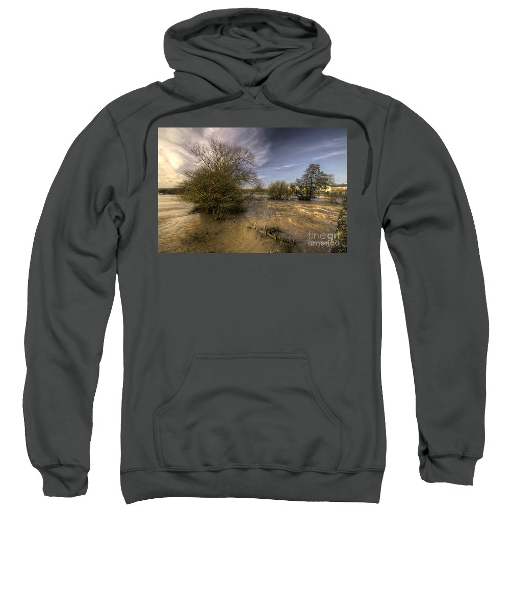 Stoke Canon Sweatshirt featuring the photograph The Floods At Stoke Canon by Rob Hawkins