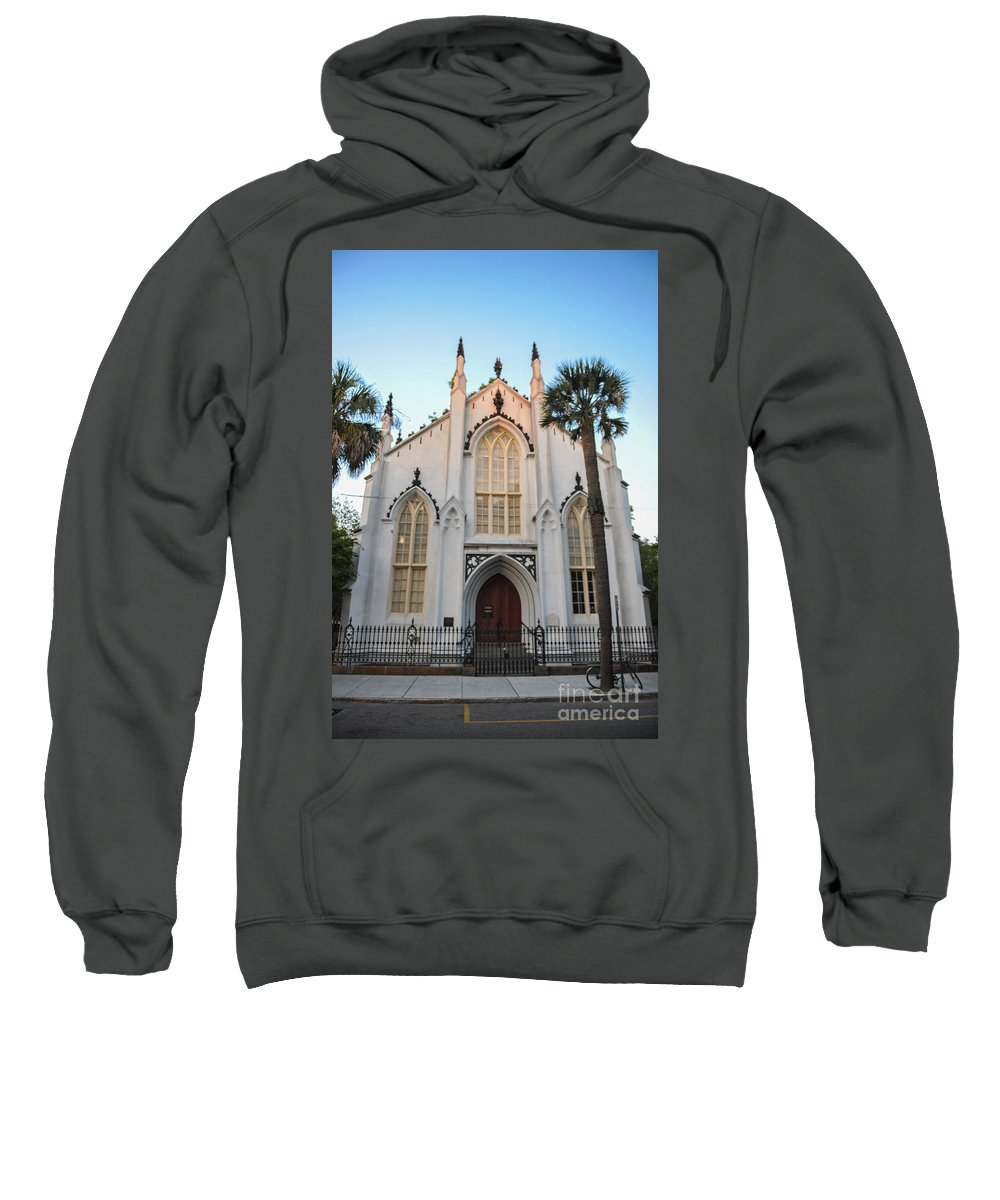 The French Huguenot Church Sweatshirt featuring the photograph Charleston French Huguenot Church by Dale Powell