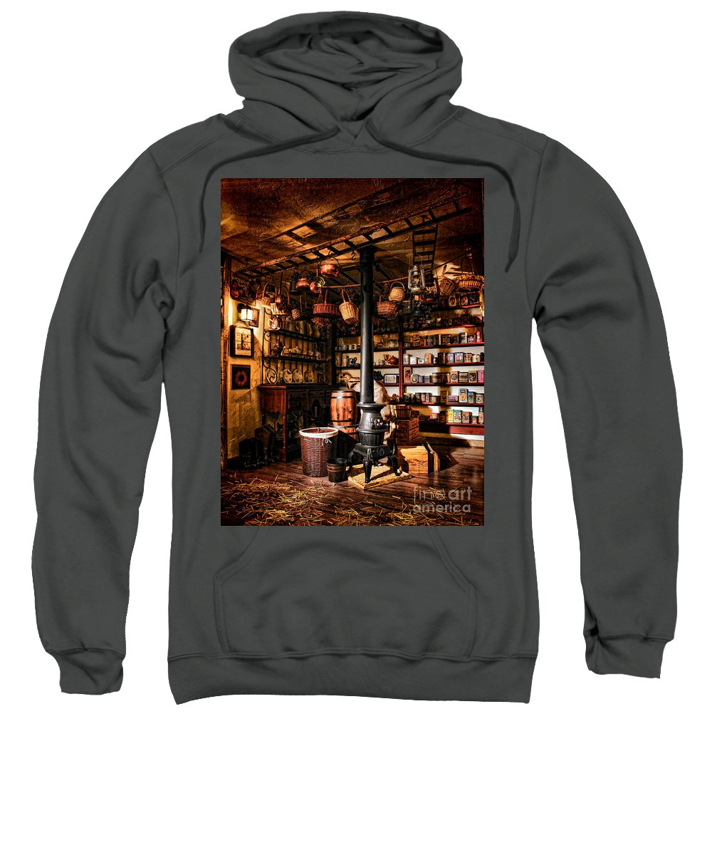 General Sweatshirt featuring the photograph The General Store In My Basement by Olivier Le Queinec