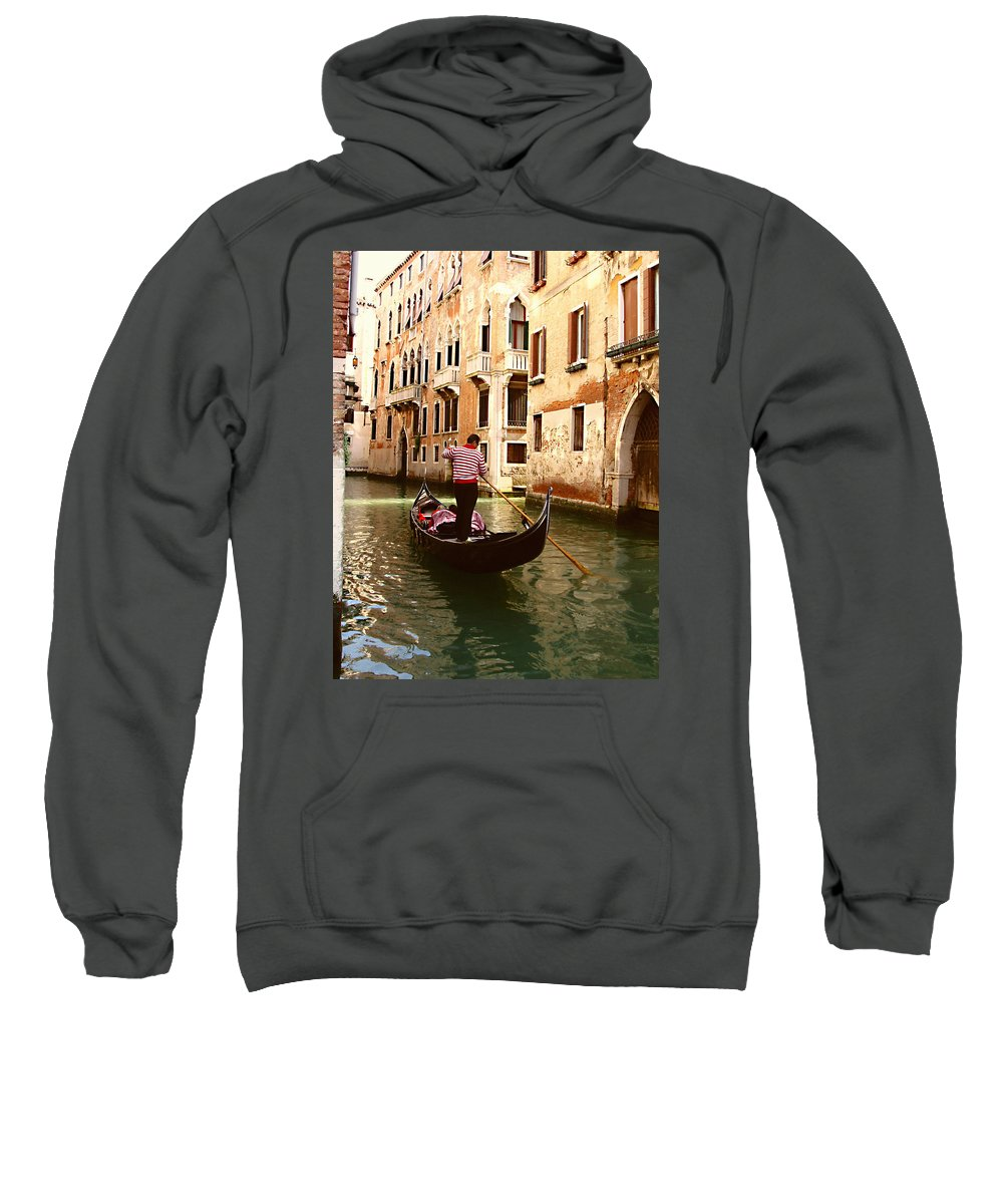 The Gondolier Sweatshirt featuring the photograph The Gondolier by Ellen Henneke