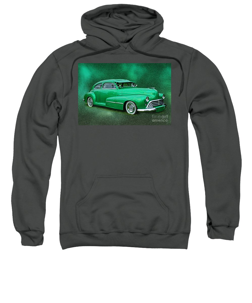 Cars Sweatshirt featuring the photograph The Green Ghost by Randy Harris