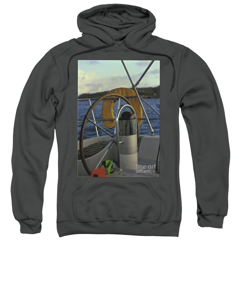 Sail Sweatshirt featuring the photograph The Helm by William Norton