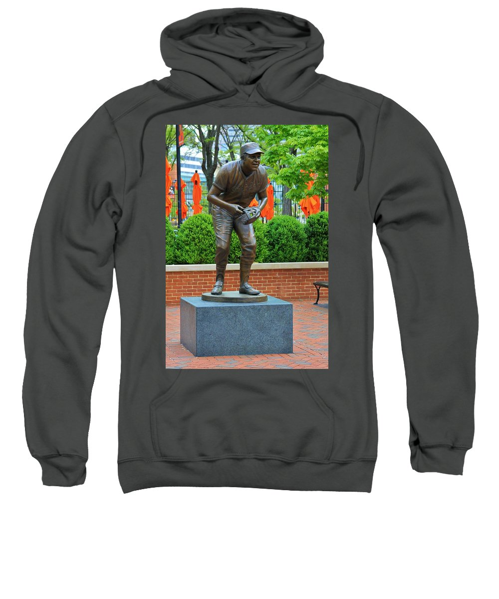 Brooks Robinson Sweatshirt featuring the photograph The Human Vacuum by Christopher Miles Carter