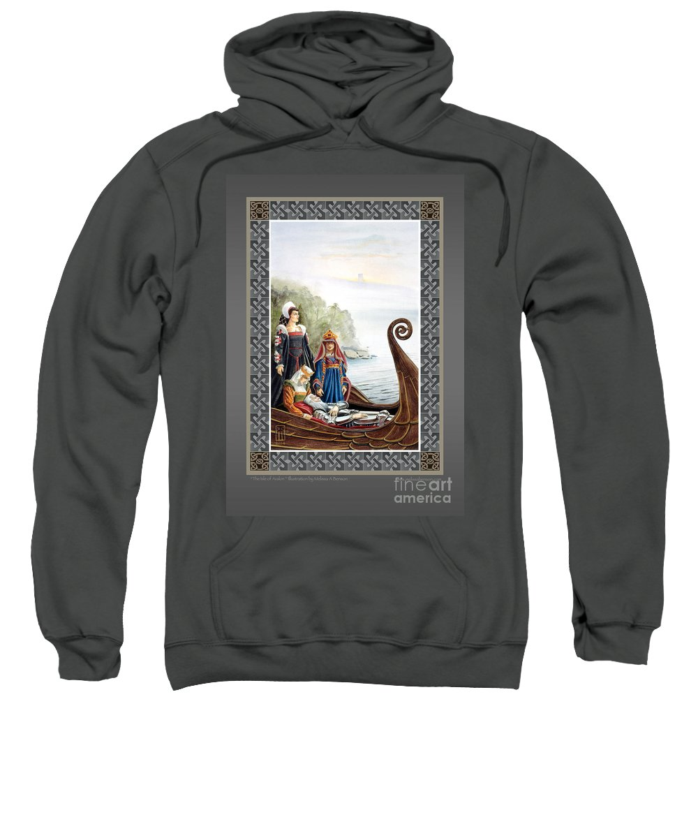 Avalon Sweatshirt featuring the painting The Isle of Avalon by Melissa A Benson