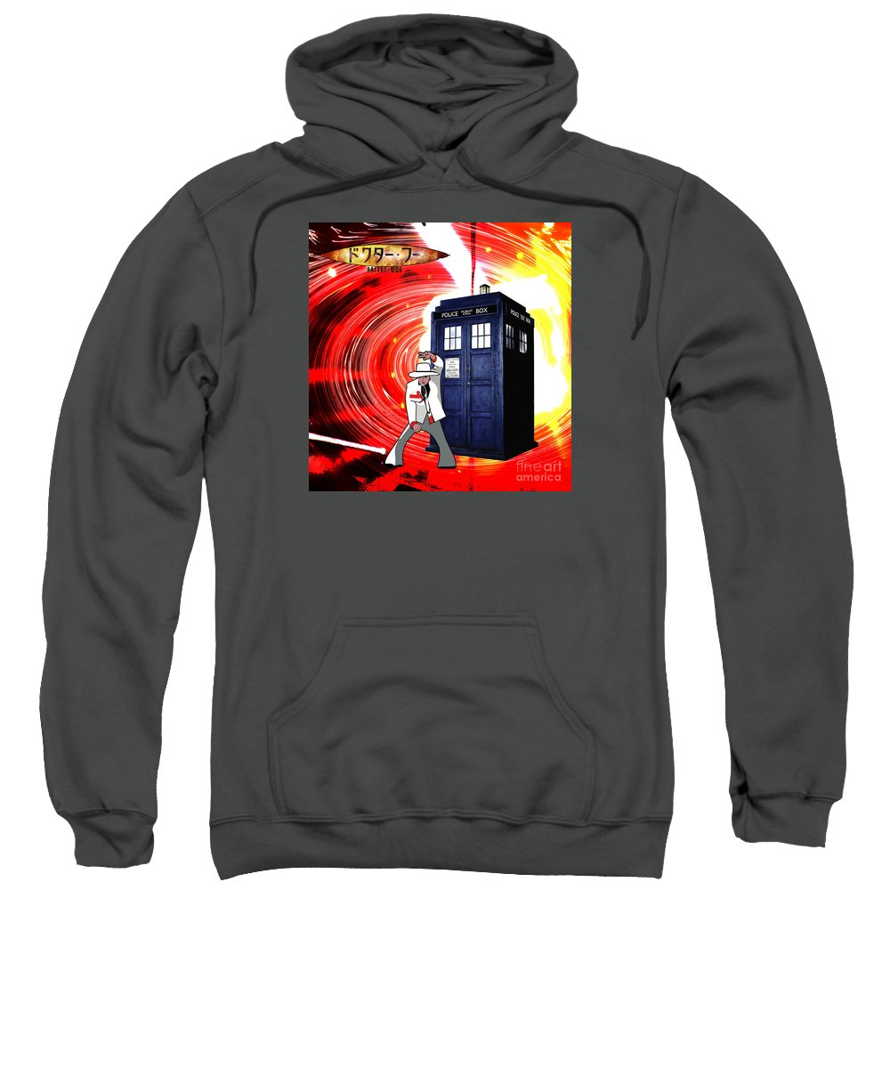 Dr. Who Sweatshirt featuring the digital art The Japanese Dr. Who by Kevin Sweeney