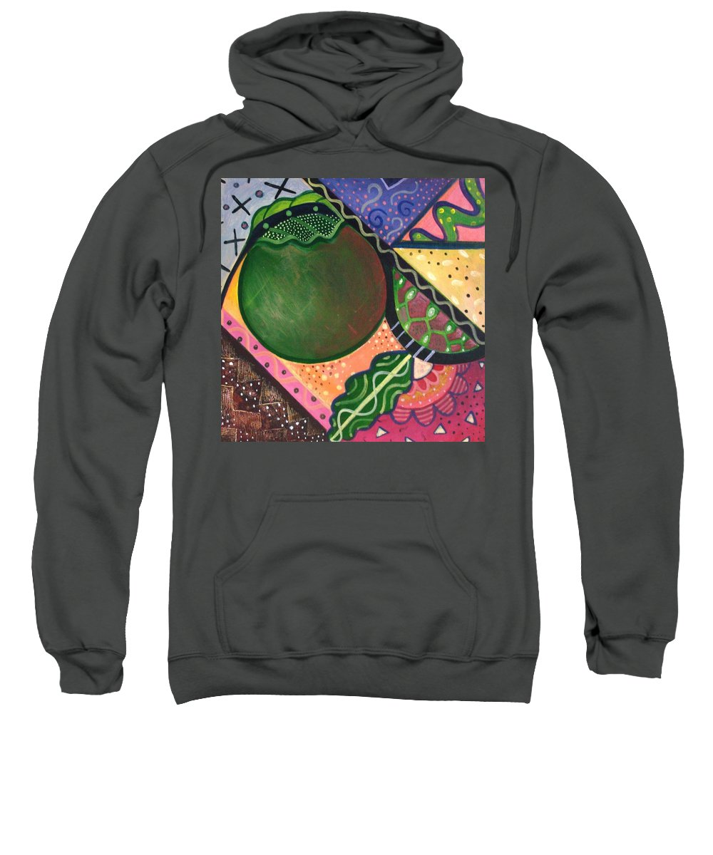 Abstract Sweatshirt featuring the painting The Joy Of Design Vl Part 4 by Helena Tiainen