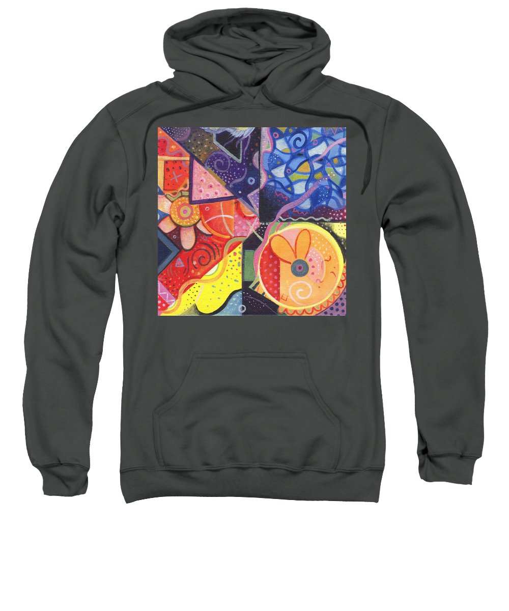Abstract Sweatshirt featuring the painting The Joy Of Design Vll Part 3 by Helena Tiainen