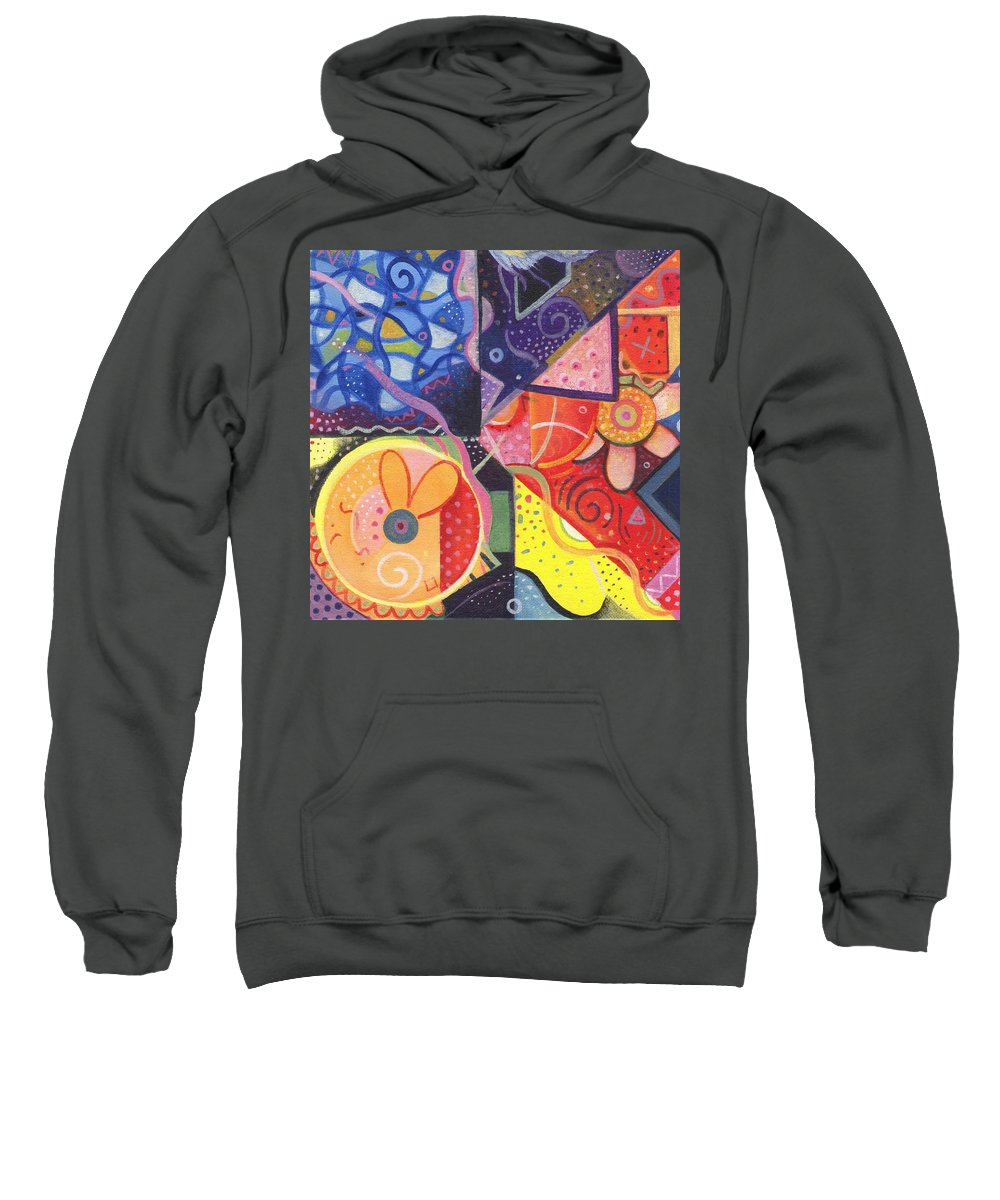 Abstract Sweatshirt featuring the painting The Joy Of Design Vll Part 4 by Helena Tiainen