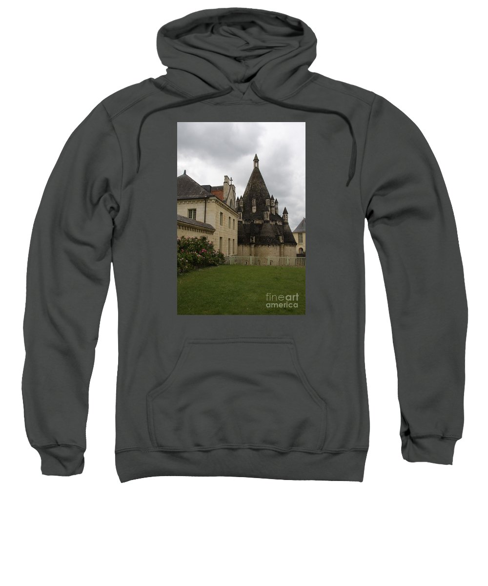 Kitchen Sweatshirt featuring the photograph The Kitchenbuilding - Abbey Fontevraud by Christiane Schulze Art And Photography