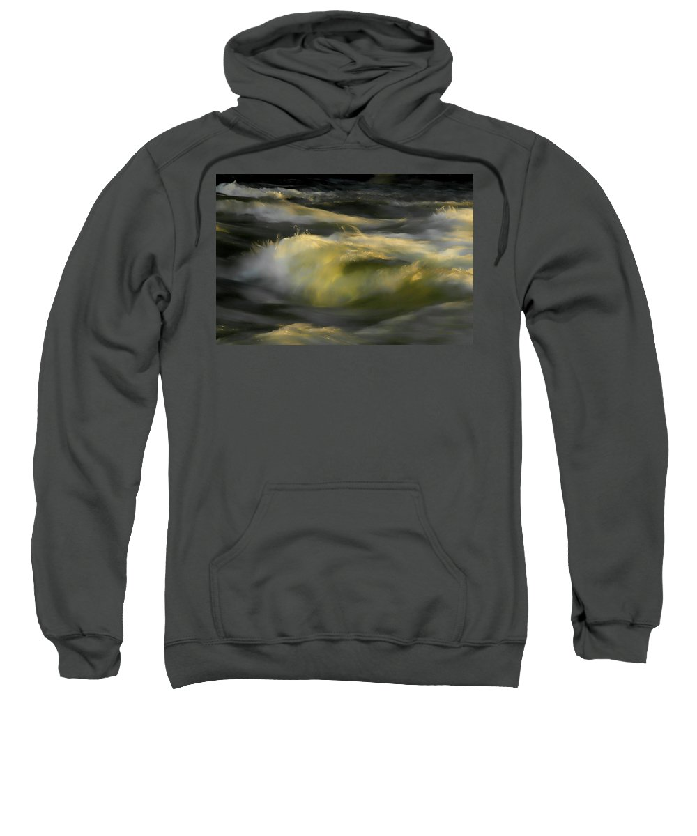 Water Sweatshirt featuring the photograph The Last Light Of Sun by Donna Blackhall
