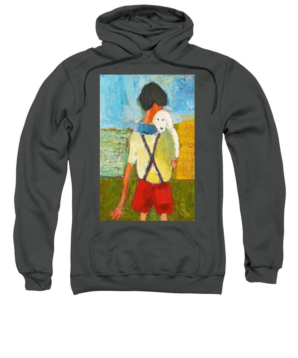 Abstract Sweatshirt featuring the painting The Little Puppy by Habib Ayat