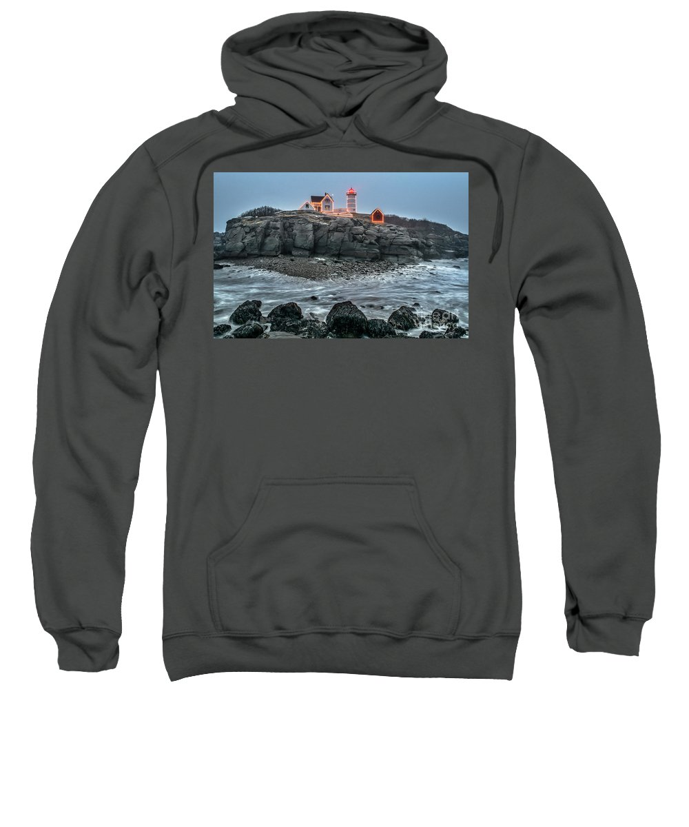 Nubble Lighthouse Sweatshirt featuring the photograph The Lost Land Bridge by Scott Thorp