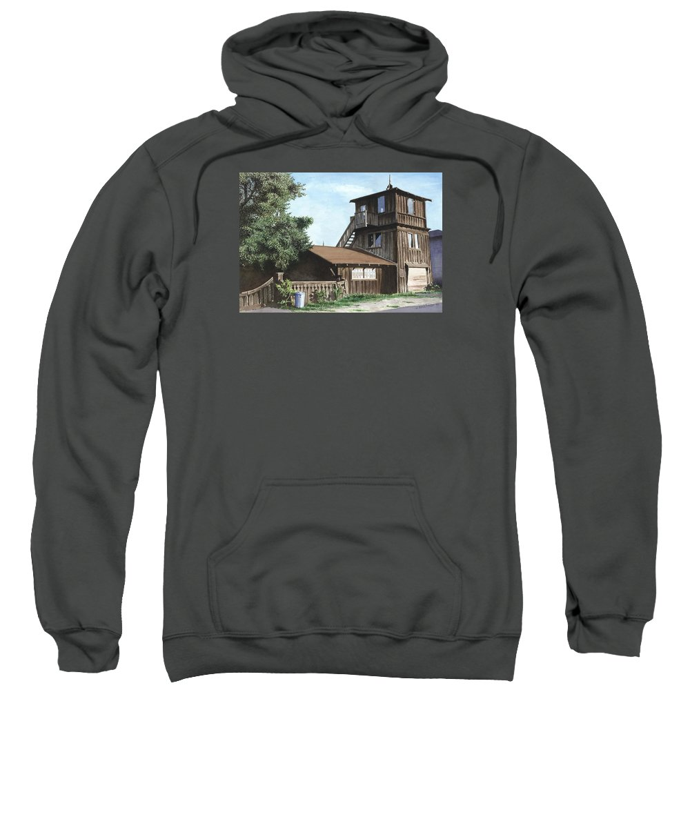 Capitola Sweatshirt featuring the painting The Lund House by James Robertson