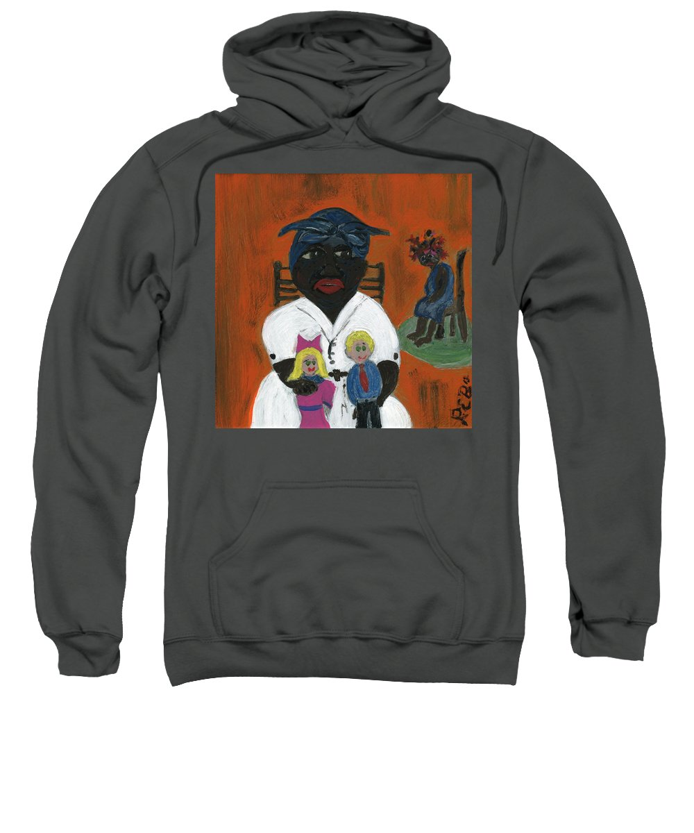 African American Art Sweatshirt featuring the painting The Mammy by The Robert Blount Collection
