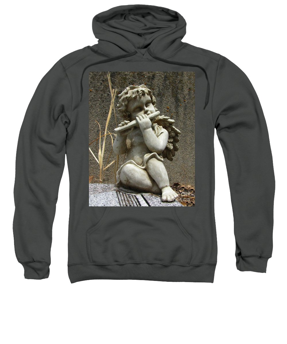 Cupid Sweatshirt featuring the photograph The Musician 02 by Peter Piatt